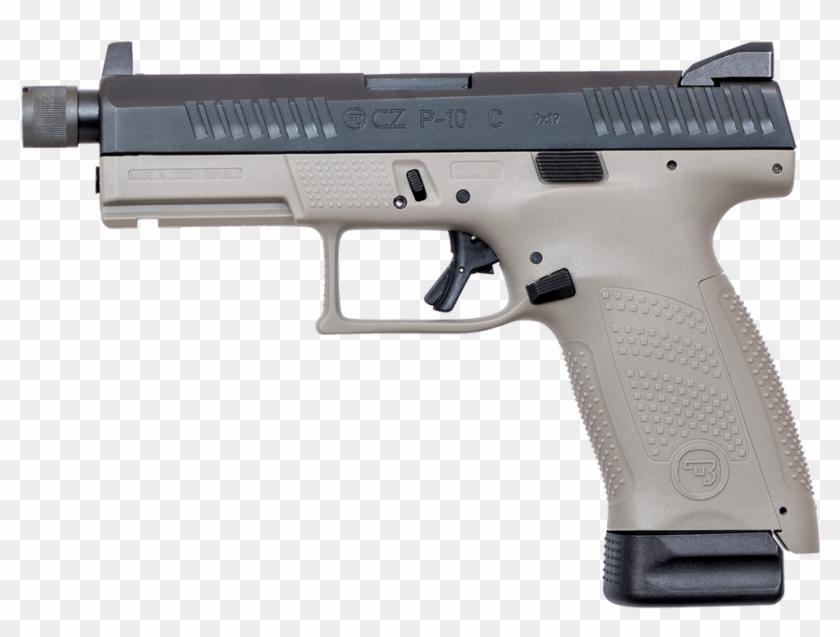 Cz Usa Cz P 10 C Urban Grey Suppressor Ready - Cz P10c Optic Ready