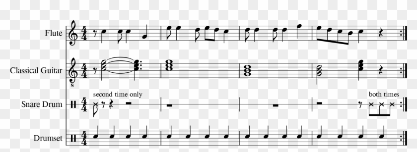 Skip A Note During A First Repeat - Music Notation Second