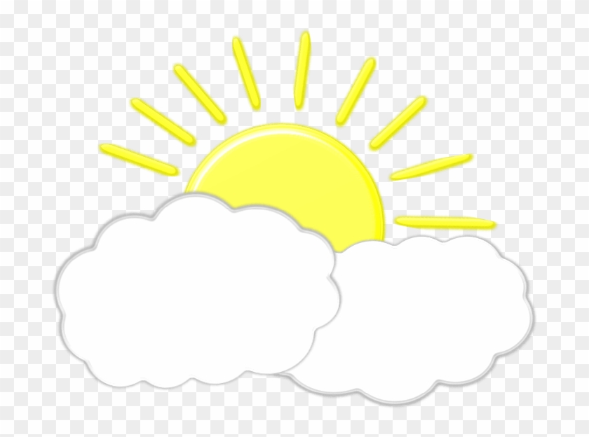 Clouds And Sun Clipart - Sun And Cloud Clipart, HD Png