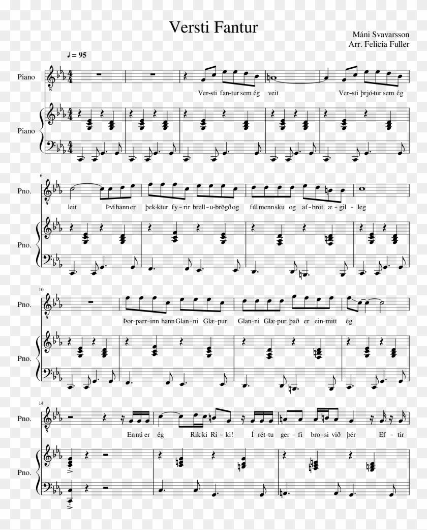 Versti Fantur Sheet Music Composed By Mni Svavarsson - Aqua's Theme