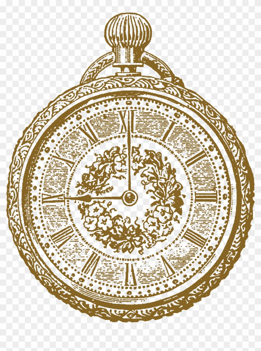 Antique Clock Illustration Clip Art - Vintage Clock Clip Art