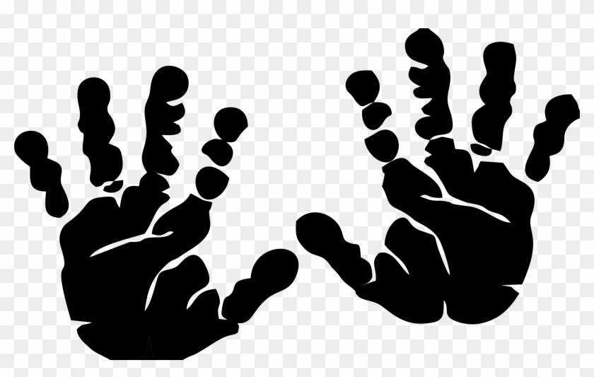 Kids Hand Palm Clipart - Hand Print Clip Art - Free Transparent PNG Clipart  Images Download