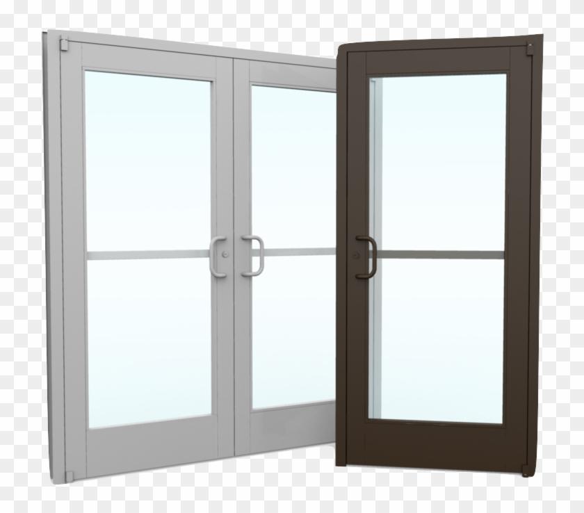 Portes vitrées commerciales en aluminium - Porte de douche, HD Png ...