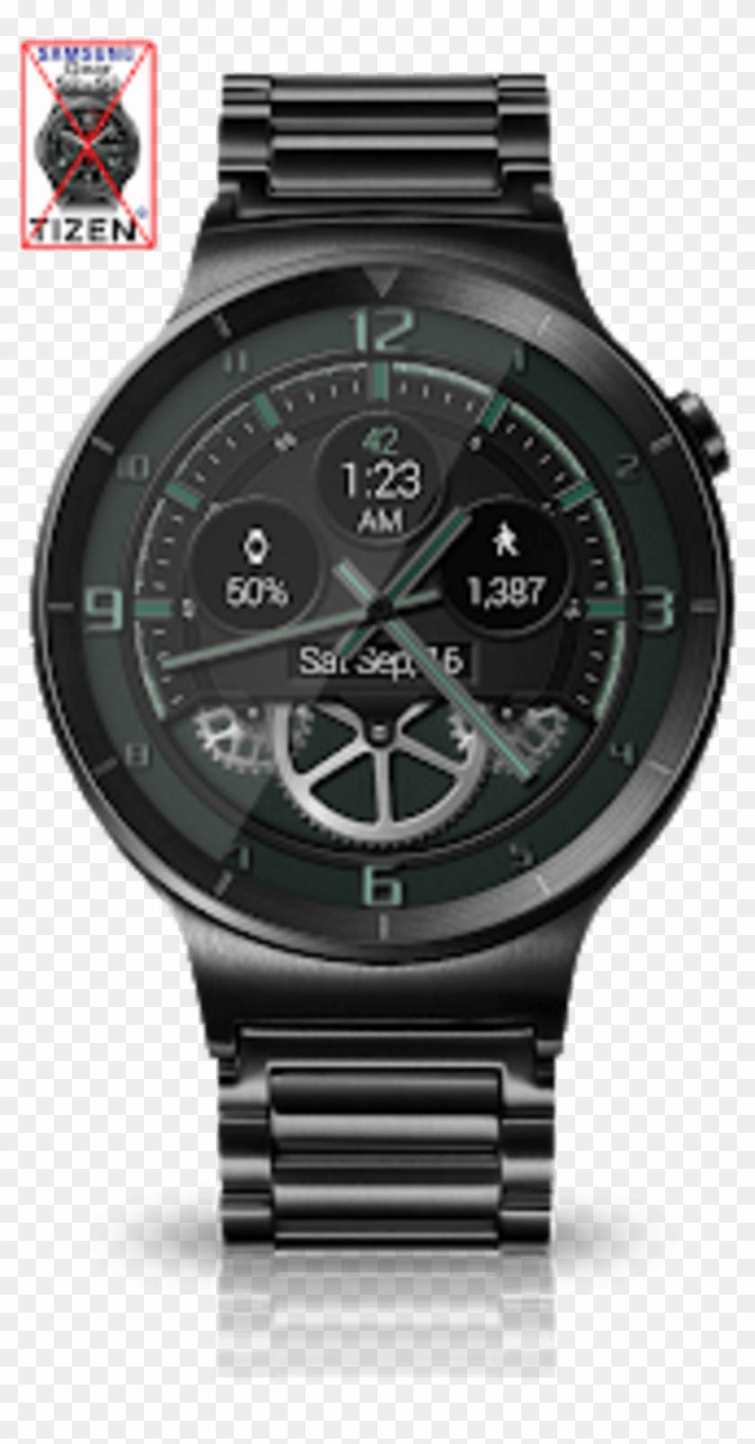 Bold Gears Hd Watch Face Widget Live Wallpaper - Black