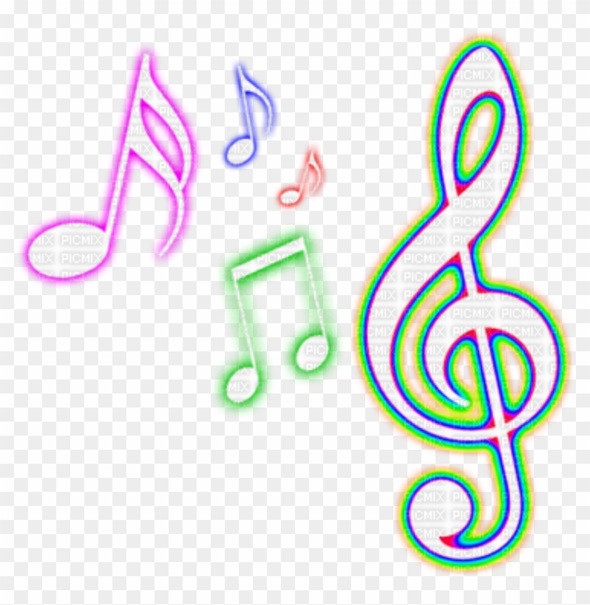 Neon Notes Png Colorful Music Note Png Transparent Png 1024x1024 6278129 Pngfind
