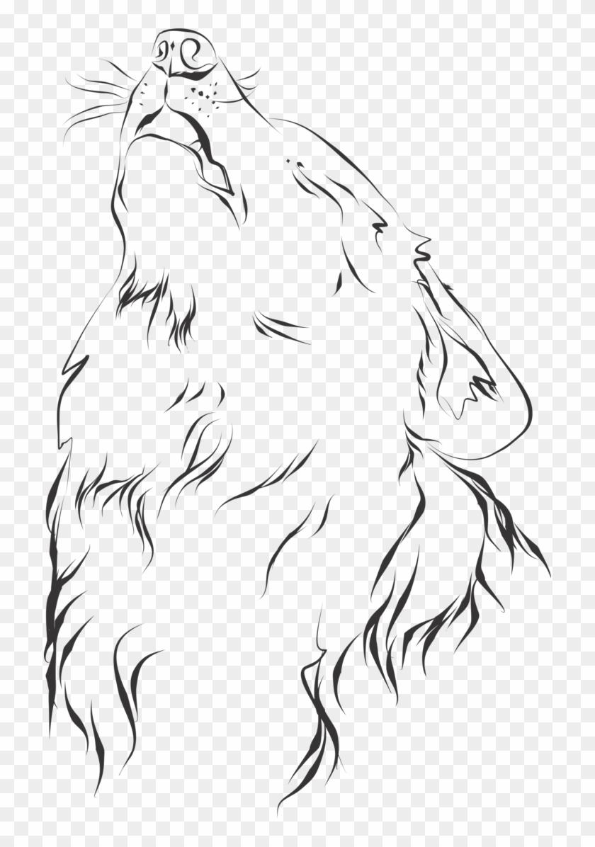 Wolf Line Drawing Dibujo Artistico En Linea Hd Png