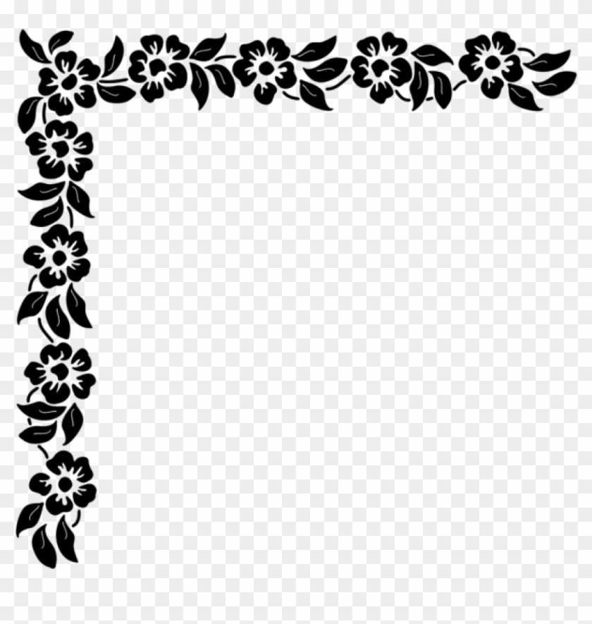 Free Png Download Floral Corner Png Clipart Png Photo Corner Clipart Black And White Png Transparent Png 850x818 637104 Pngfind