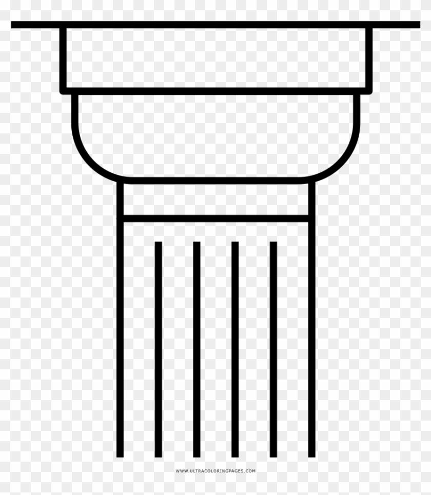 Greek Column Coloring Page Coluna Grega Desenho Para Imprimir