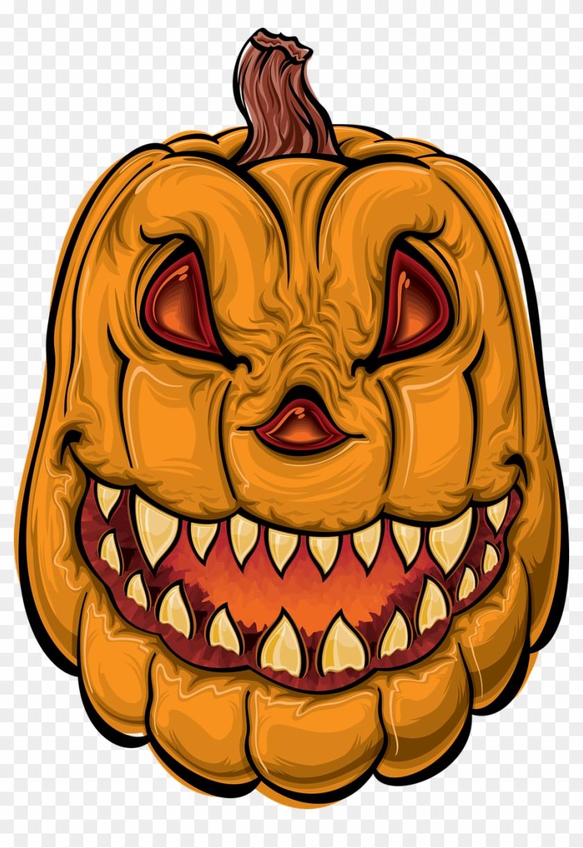 Pumpkin Halloween Cartoon Png Image Cartoon Scary Jack O Lantern Transparent Png 910x1280 6340425 Pngfind