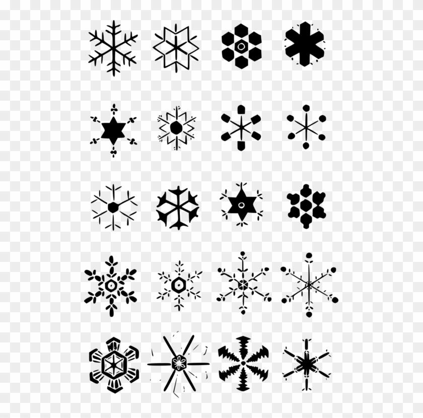 Snowflake Drawing Shape Ice Crystals Dessiner Flocons De Neige
