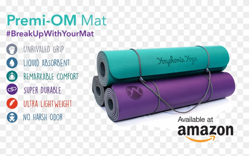 Premi Om The Yoga Mat Designed For Yogis By Yogis Amazon Hd Png Download 1028x595 6373795 Pngfind