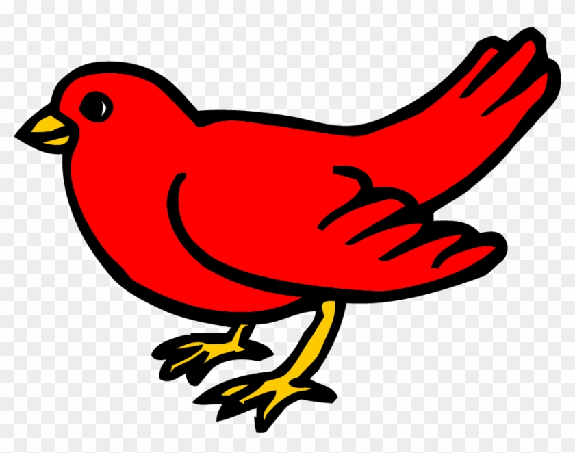 Bird small. Red clipart png from