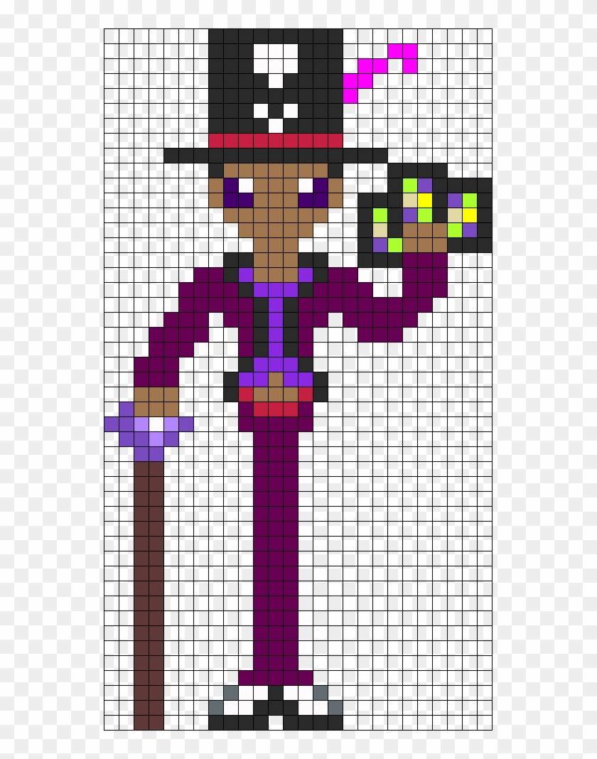 Facilier The Shadow Man Perler Bead Pattern / Bead - Pixel