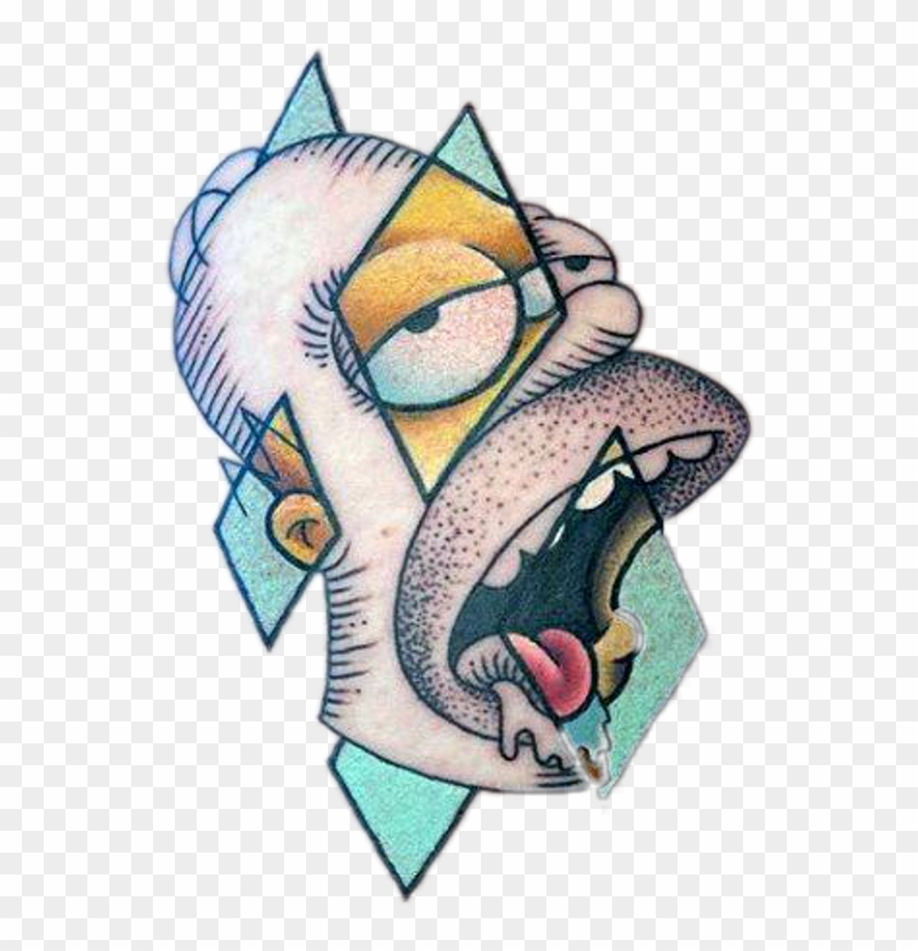 Tattoo The Simpsons Homer Simpson Hd Png Download 543x790 640313 Pngfind