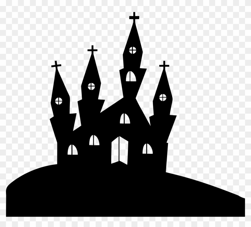 Jpg Freeuse Download Church Silhouette Clipart Carte Postale D Halloween A Imprimer Hd Png Download 2400x2057 643070 Pngfind