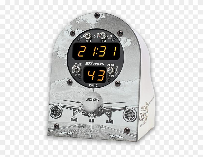 Aviators Desk Clock From Davtron Gauge Hd Png Download 547x571
