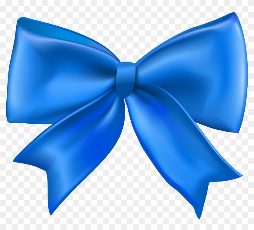 Bow blue. Desktop wallpaper clip art