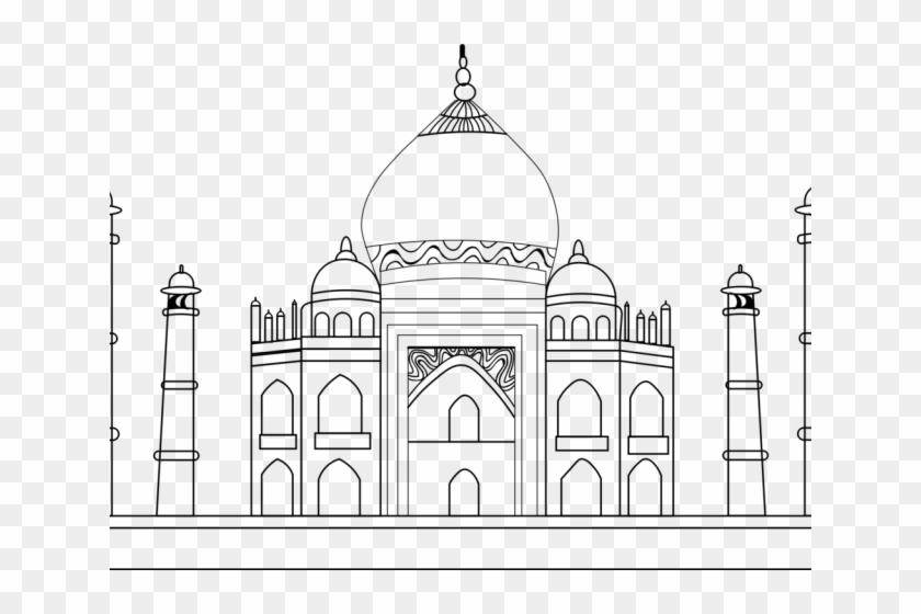Taj Mahal Clipart Drawing Taj Mahal To Draw Hd Png Download