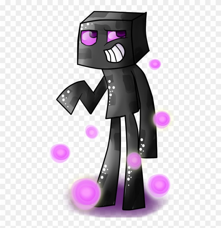Enderman Drawing Minecraft Character Vector Black And