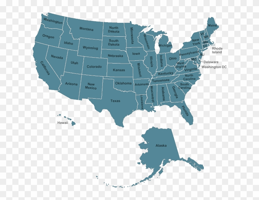 Usa Map - Fear Loathing And Gumbo, HD Png Download - 635x575 ...