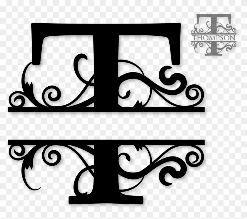 Letter Monogram Free Monogram Cricut Monogram Monogram Split T Monogram Svg Hd Png Download 2427x2034 6508766 Pngfind