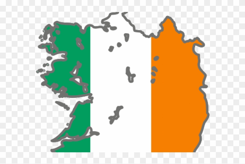 Northern Ireland Flag Clipart Icons - Ireland Flag Map Icon
