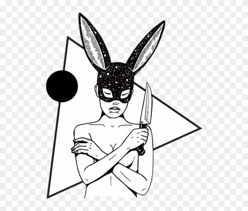 Triangle Shapes Knife Badbunny Badbitch Savage Cartoon Hd