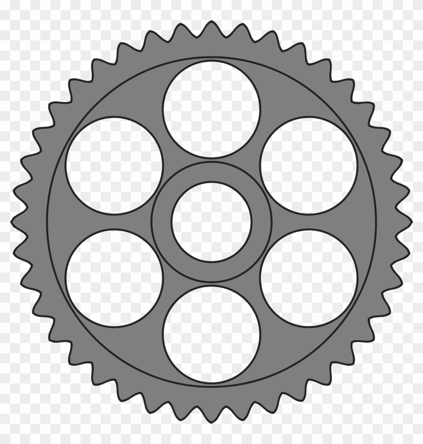 This Free Icons Png Design Of 40-tooth Gear With Circular - Wheel