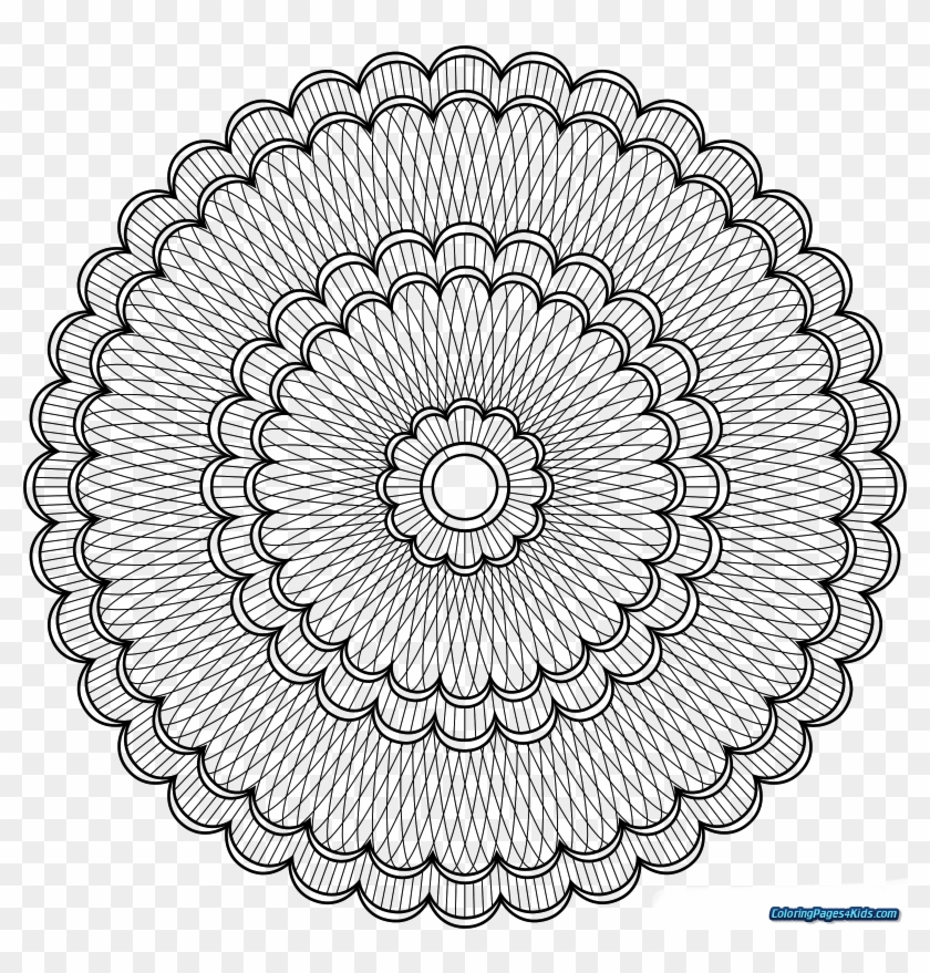 Advanced Mandala Coloring Pages Angel Level Printable - Mandala Lineart  Png, Transparent Png - 1600x1600(#6546984) - PngFind