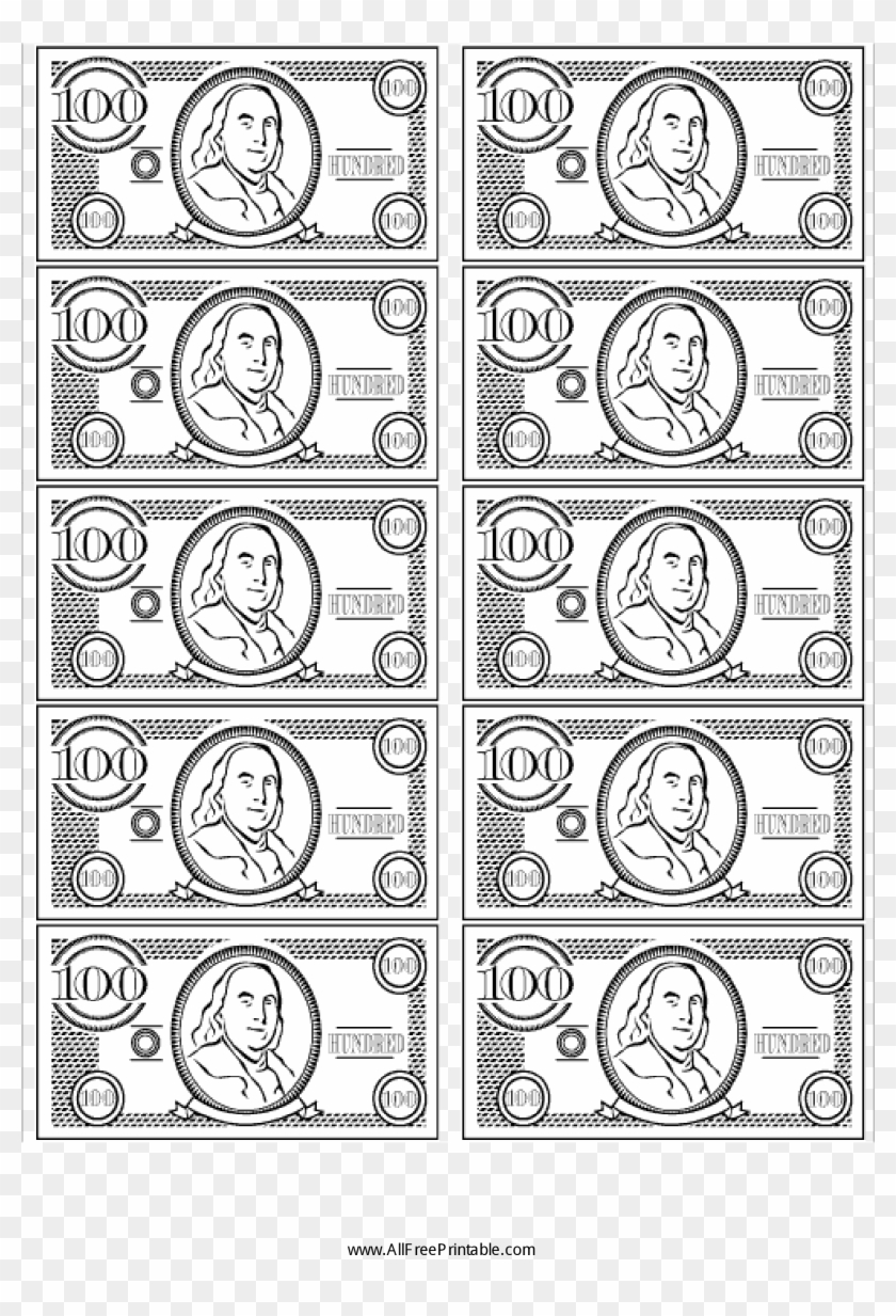 graphic about Printable Money for Classroom referred to as 100 Invoice False Fiscal - Clroom Wrong Dollars Printable, High definition Png