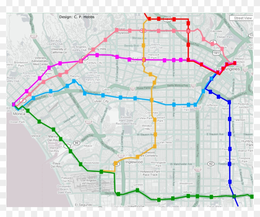Green Line Extension To Santa Monica Via Lincoln * - Metro ...