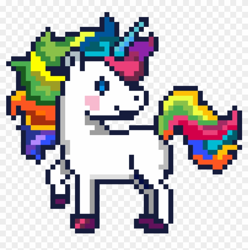 Unicorn In Minecraft Word Of Pixels Easy Art Hd Png