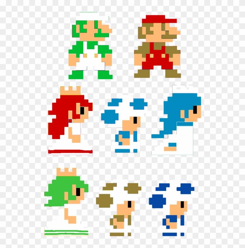 600 X 817 2 0 Super Mario Characters Pixel Art Hd Png Download