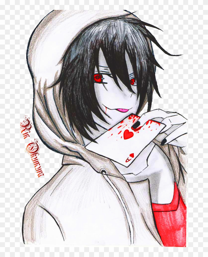 Drawn Jeff The Killer Anime - Jeff The Killer Kawaii, HD Png