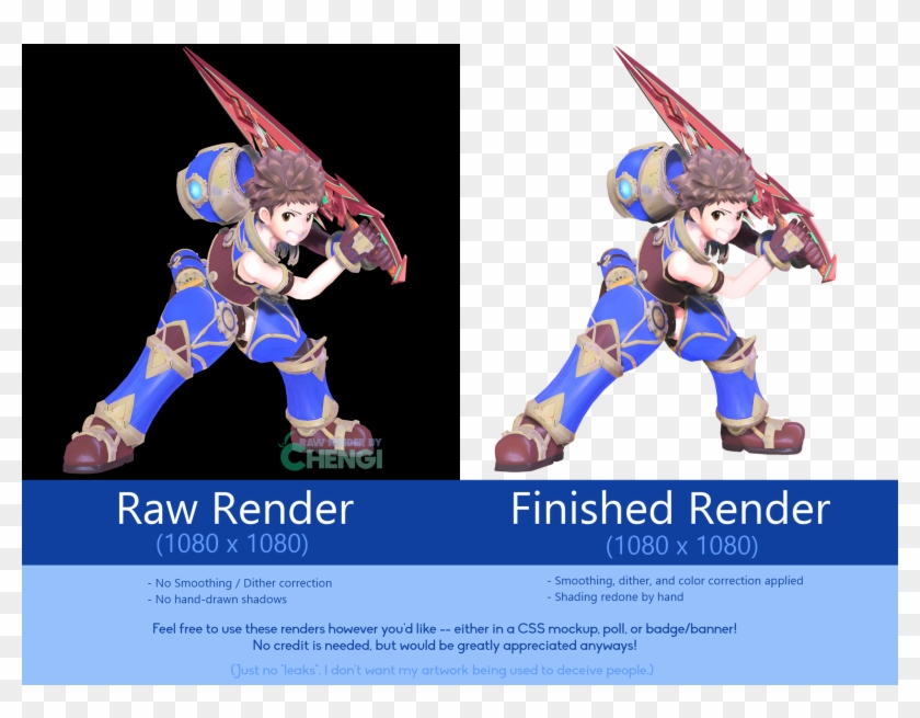This Is How I Imagine Rex's Model - Smash Ultimate Fan Renders, HD