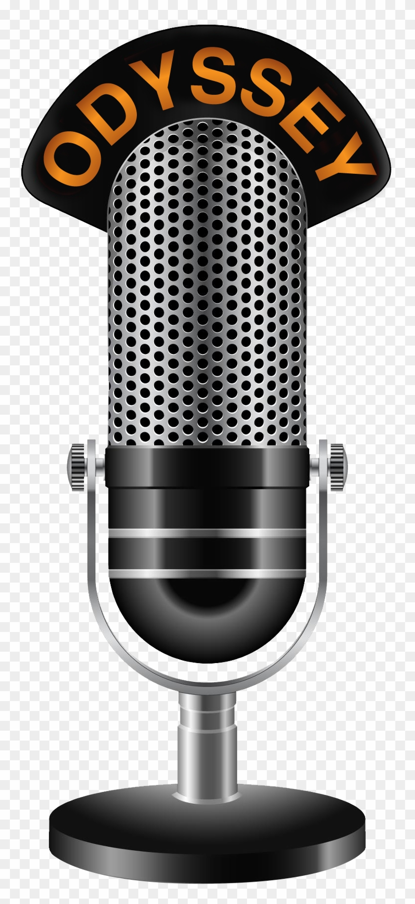 White Drawing Microphone - Old Microphone Outline , Transparent Cartoon -  Jing.fm