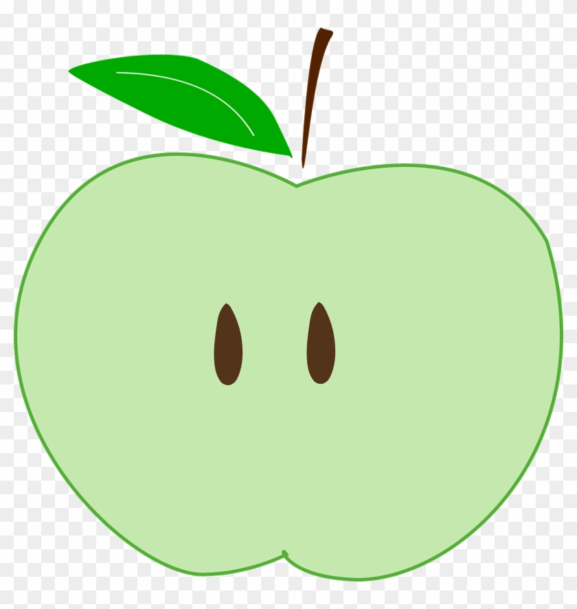 Green Apple Slice Free Picture Clip Art Hd Png Download 1268x1280 6598058 Pngfind