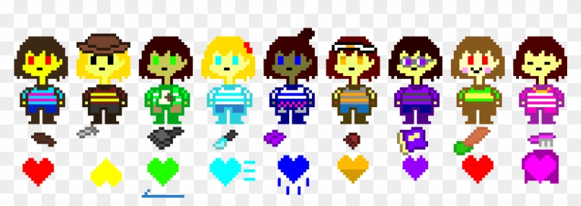 The Nine Souls Of Undertale - Colors Of The 7 Souls, HD Png