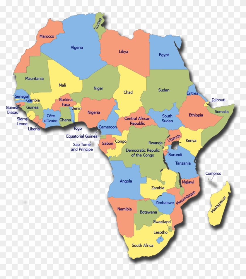 Africa Map Equatorial Guinea   Continent Of Africa, HD Png