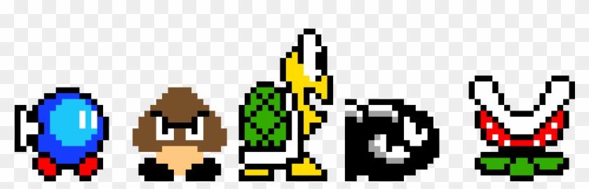 Mario Enemies Pixel Art Mario Enemies Hd Png Download