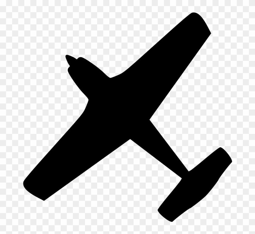 Black Aircraft Icon World War 1 Airplanes Stencil Hd Png