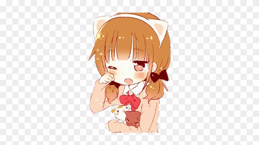 Anime Cute Png Cat Chibi Gif Transparent Png 391x391 6622426 Pngfind