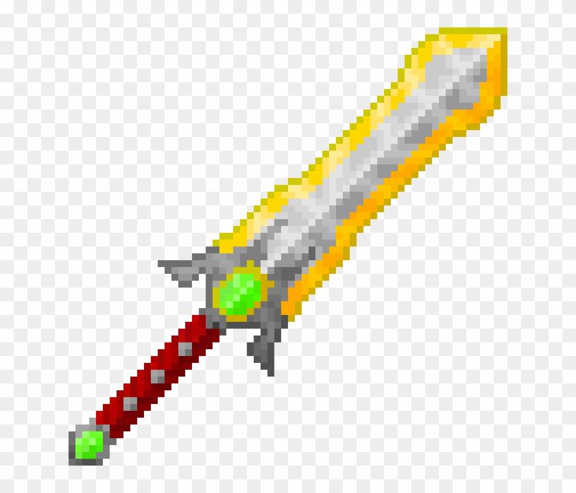 Pixel Art Sword - Bloody Knife Pixel Art, HD Png Download - 640x640