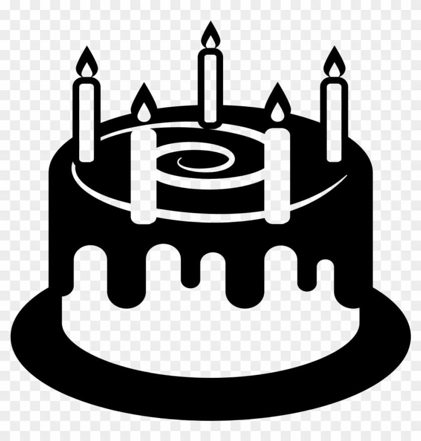Open - Birthday Cake Emoji Black, HD Png Download