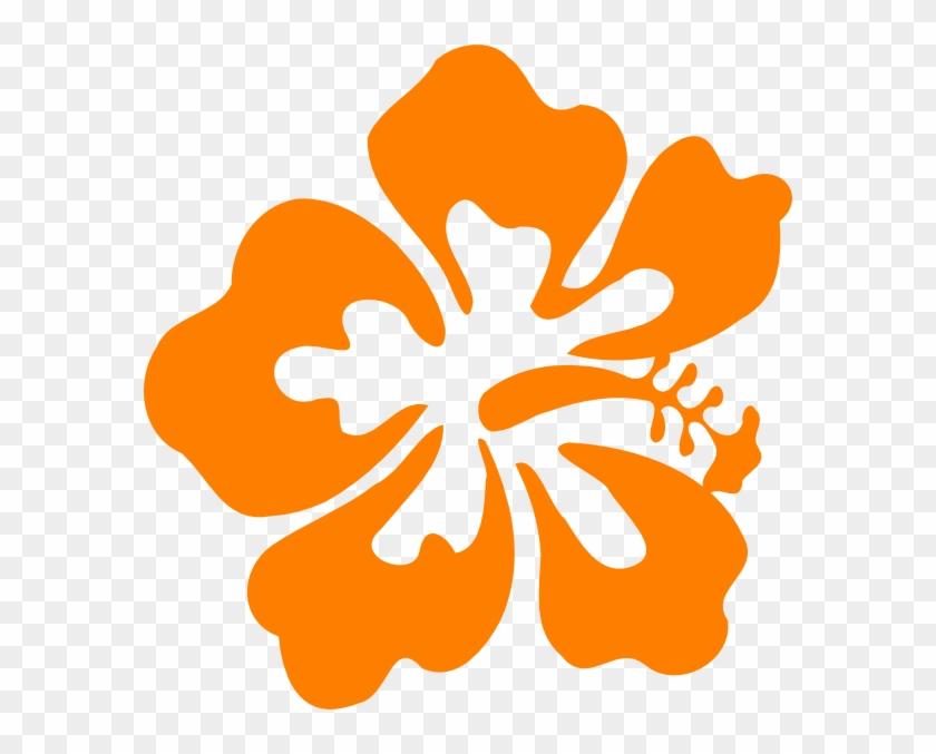 Luau Hawaiian Flower Clip Art Tropical Plants Vector - Clip Art Hibiscus Flower Png, Transparent