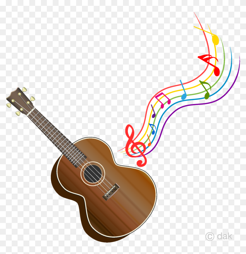 Guitar Ukulele And Colorful Music Note Clipart Free Cute Ukulele Clip Art Hd Png Download 960x960 6705247 Pngfind