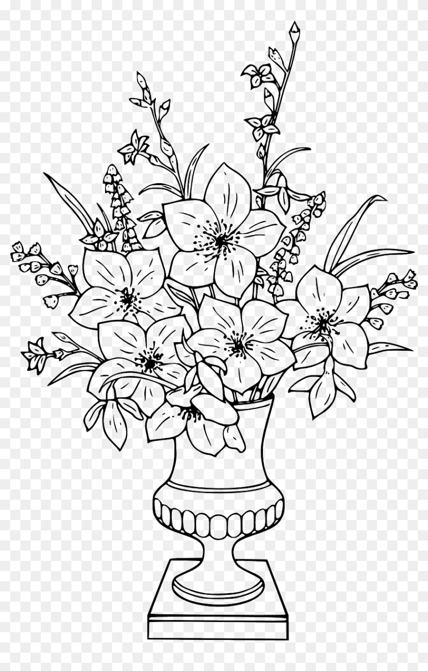 Flower Vase Coloring Pages Hd Png Download 842x1280 6705983 Pngfind