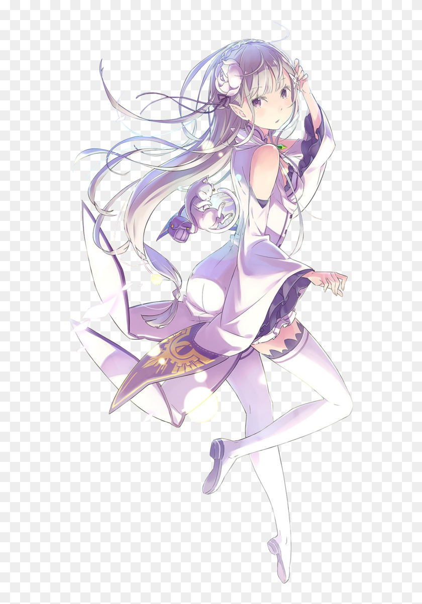 Emilia And Re Zero Image Emilia Re Zero Wallpaper Iphone Hd Png