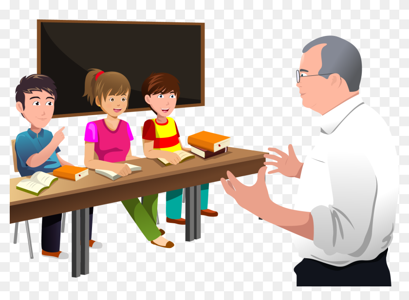 Classroom Lectures Professor Student The Teacher Clipart Teacher Teaching Students Png Transparent Png 1666x1147 6751644 Pngfind