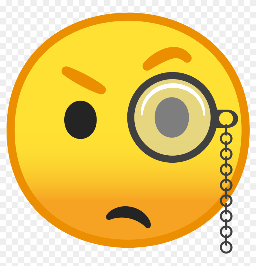 Emoji With Monocle Android Hd Png Download 1024x1024 6793284 Pngfind